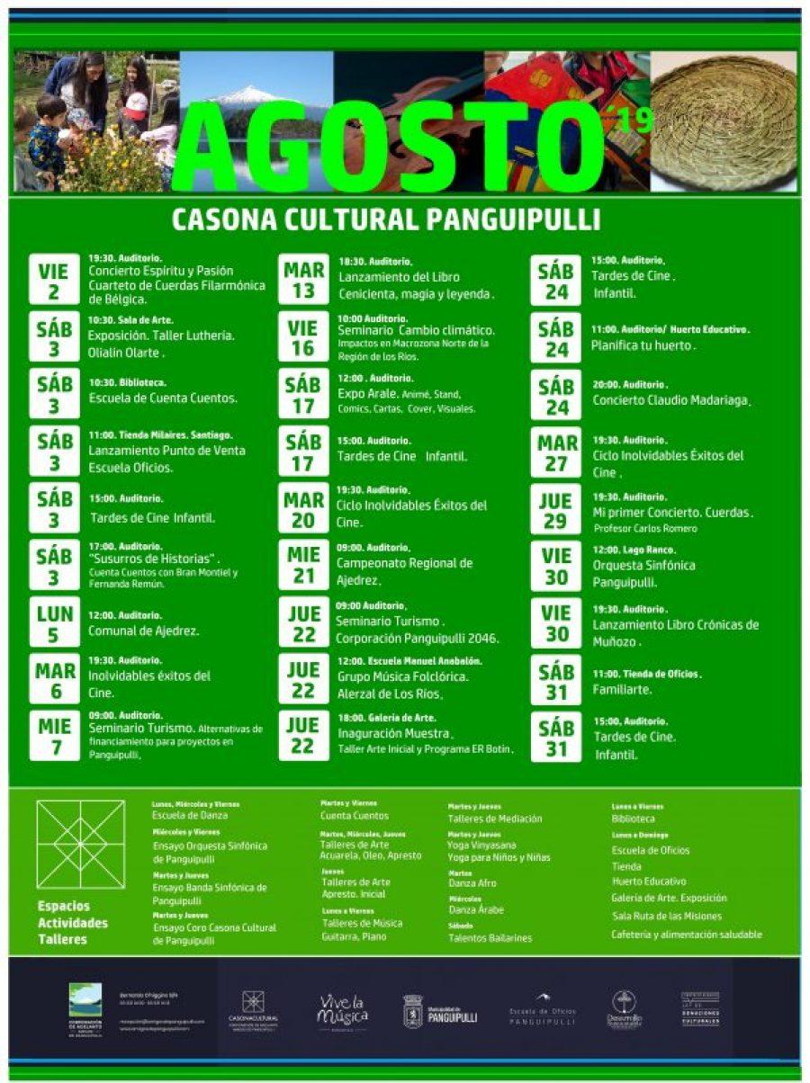 Casona Cultural - Programación Agosto 2019 jpg