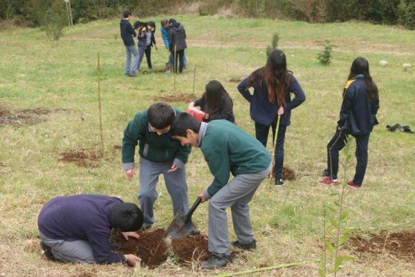 niños proyecto ambiebtal pangui