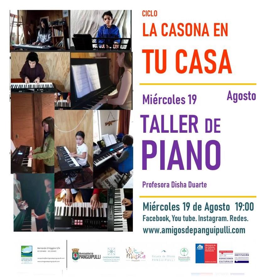 La Casona en tu Casa Presentación Taller de Piano 19-00