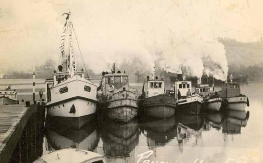 Foto Panguipulli Antiguo. Vapores puerto.